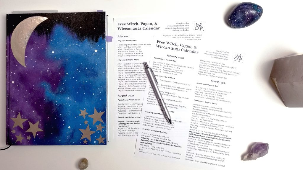 Wickboldt Christmas 2021 Version 2 Free Witch Pagan Wicca 2021 Holiday Calendar Printable Part 2 Simply Arden